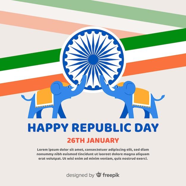 Fond république indienne Vecteur gratuit