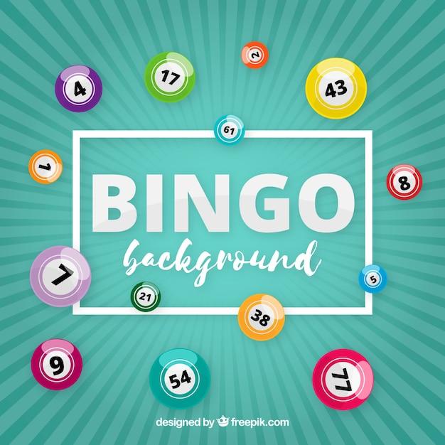 Fond rétro avec des balles de bingo Vecteur gratuit