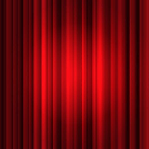 Fond de rideau de soie rouge Vecteur gratuit