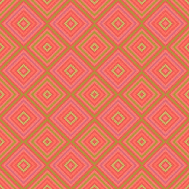 Fond rose avec des carrés Vecteur gratuit