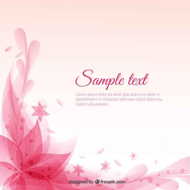 Fond Rose Floral Vecteur gratuit