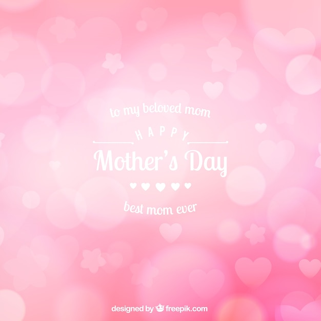 Fond rose flou pour le jour de la mère Vecteur gratuit