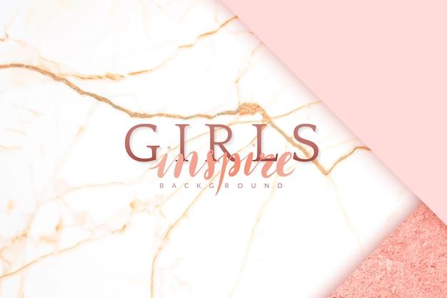 Fond rose girly Vecteur gratuit