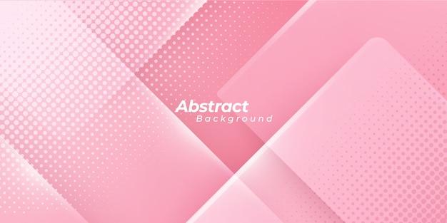 Fond Rose Avec Des Points De Demi-teintes Abstraites. Vecteur Premium