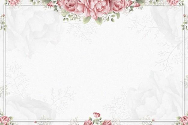 Fond De Roses Aquarelle Vecteur gratuit