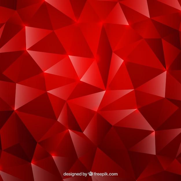 Fond rouge avec effet diamant Vecteur gratuit