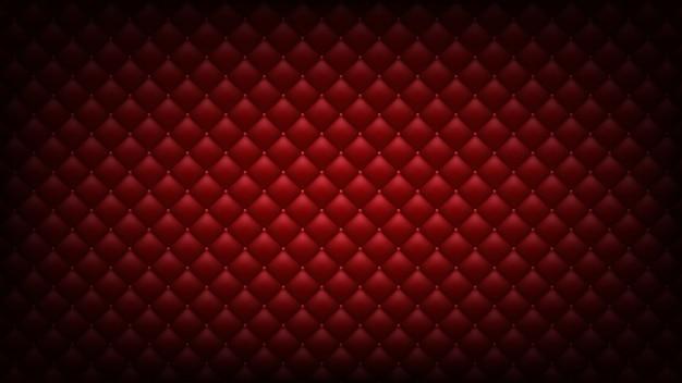 Fond rouge matelassé. fond d'écran large. Vecteur Premium