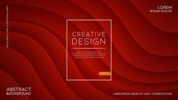 Fond Rouge Moderne Et Futuriste Avec Des Formes Ondulées Vecteur Premium