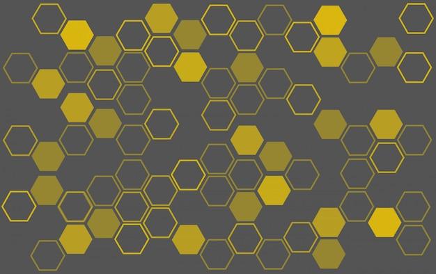 Fond de ruche Vecteur Premium