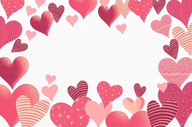 Fond De Saint Valentin Aquarelle Vecteur gratuit