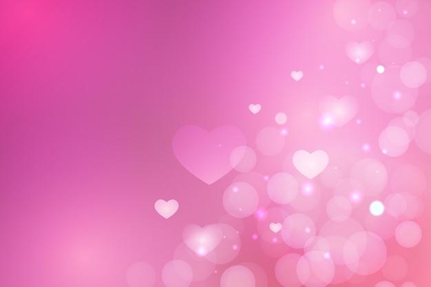 Fond De Saint Valentin Floue Simple Vecteur gratuit