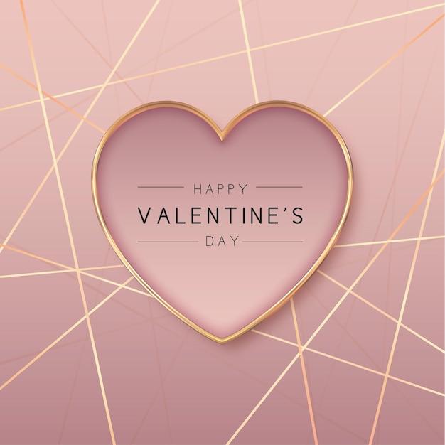 Fond De Saint Valentin En Forme De Coeur Doré Vecteur gratuit