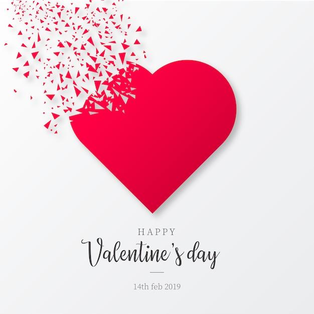 Fond de saint valentin avec des formes brisées Vecteur gratuit