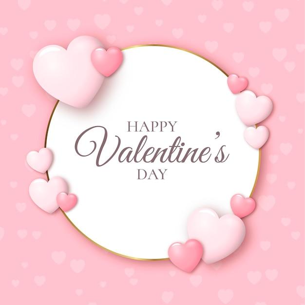 Fond De Saint Valentin Réaliste Vecteur gratuit
