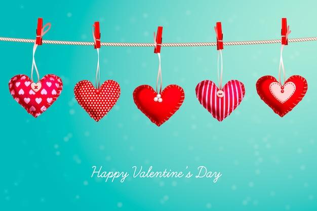 Fond De Saint Valentin Réaliste Vecteur Premium