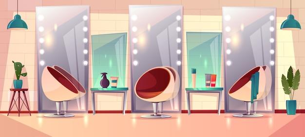 Fond avec un salon de coiffure féminin Vecteur gratuit
