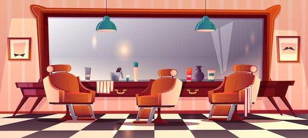 Fond avec le salon de coiffure masculin Vecteur gratuit