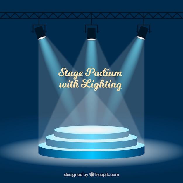Fond de scène avec éclairage Vecteur gratuit