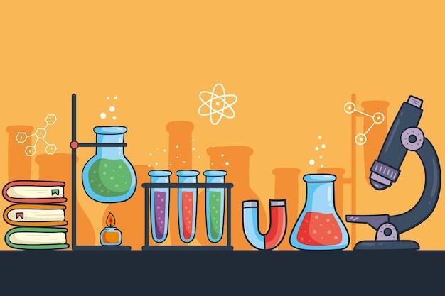 Fond De Science Dessiné à La Main Vecteur gratuit
