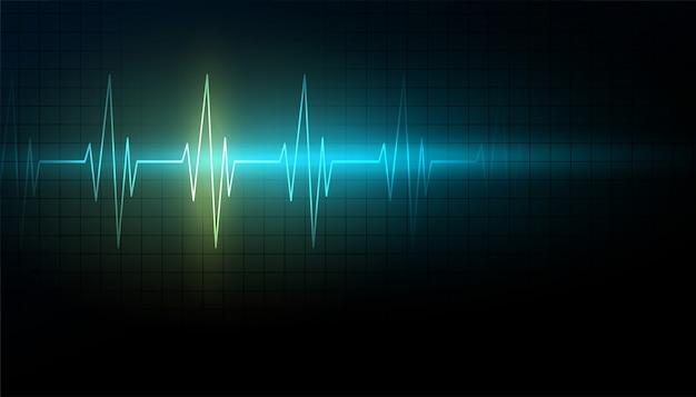 Fond De Science Médicale Et De Soins De Santé Avec Ligne De Rythme Cardiaque Vecteur gratuit