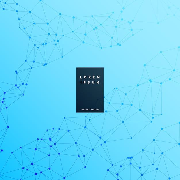 Fond de science numérique wireframe bleu Vecteur gratuit