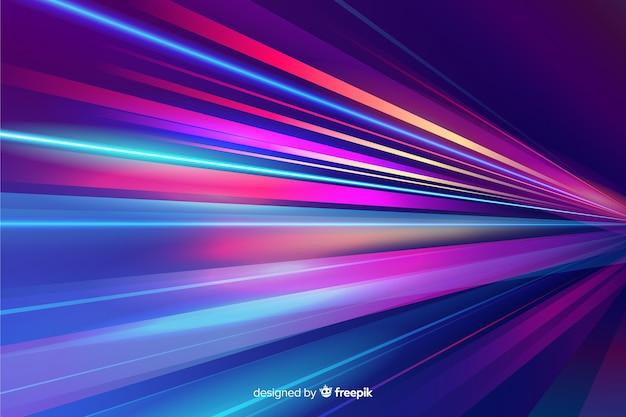Fond de sentier coloré néon Vecteur gratuit