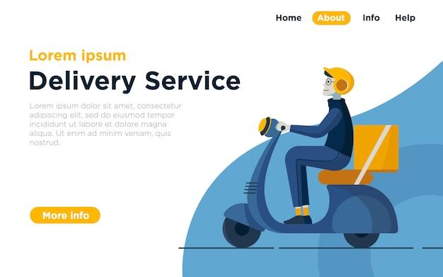 Fond de service de livraison Vecteur Premium