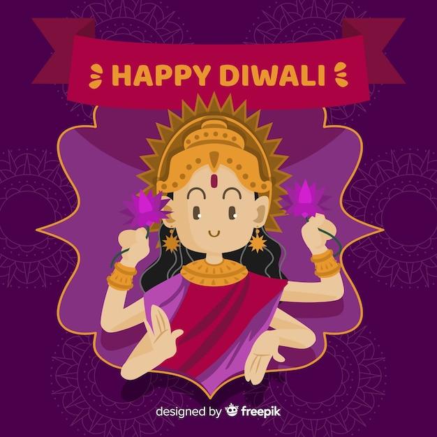 Fond de shiva diwali dessiné à la main Vecteur gratuit