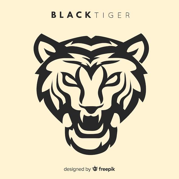 Fond de silhouette de tigre Vecteur gratuit