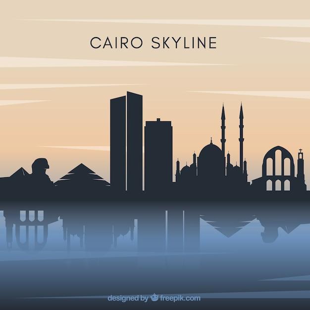 Le fond de skyline du caire Vecteur gratuit