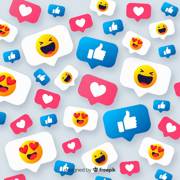 Fond De Smiley Coloré Vecteur gratuit