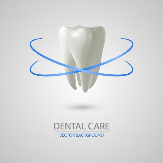 Fond De Soins Dentaires 3d Réaliste Vecteur Premium