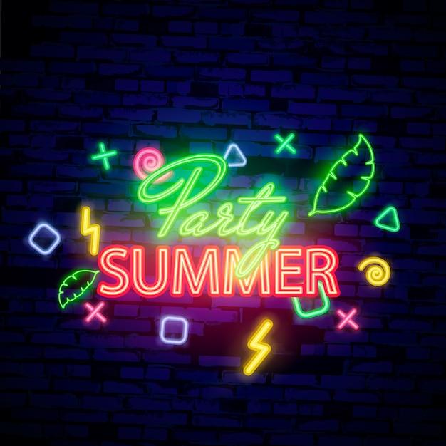 Fond de soirée de nuit d'été Vecteur Premium