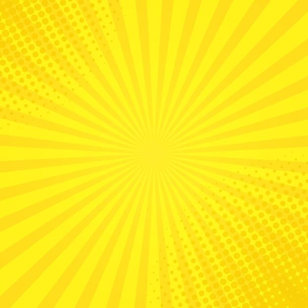 Fond de soleil demi-teinte Vecteur Premium