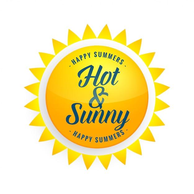 Fond de soleil jaune brillant Vecteur gratuit