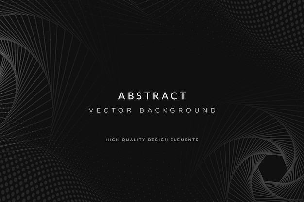 Fond sombre abstrait tech Vecteur gratuit