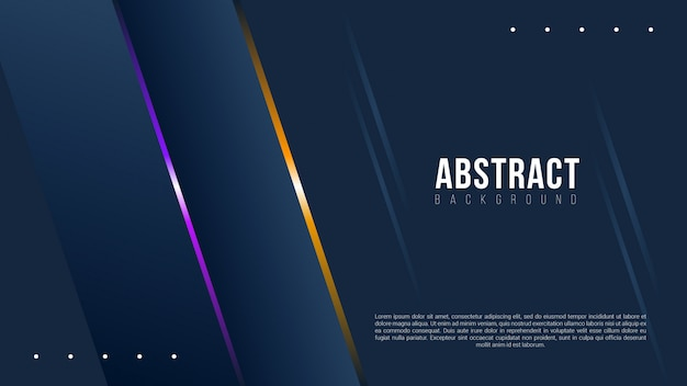 Fond sombre abstraite avec lignes de dégradé Vecteur Premium
