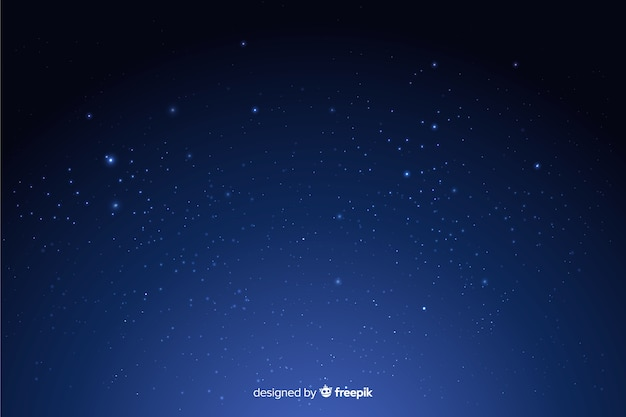 Fond Sombre Dégradé Nuit étoilée Vecteur Premium