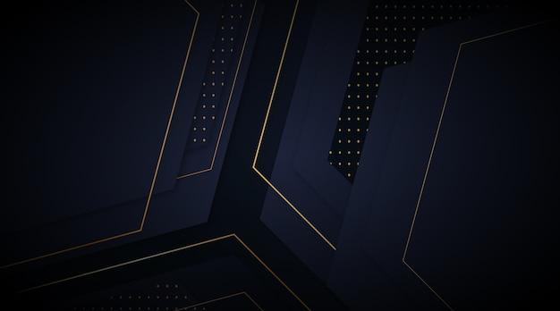 Fond Sombre élégant Avec Concept De Détails D'or Vecteur gratuit