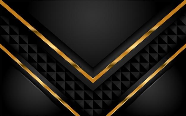 Fond sombre élégant avec couche de recouvrement Vecteur Premium
