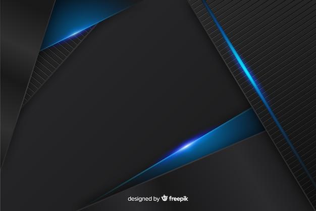 Fond sombre élégant avec des formes polygonales Vecteur gratuit