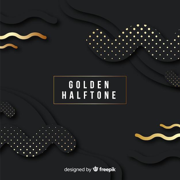 Fond sombre avec des étincelles dorées Vecteur gratuit