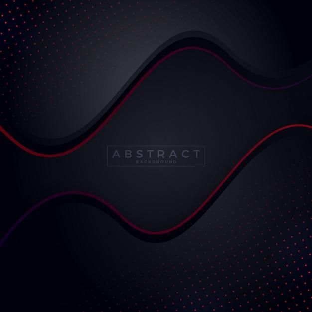 Fond sombre avec un fond de couleur abstrait rouge Vecteur Premium