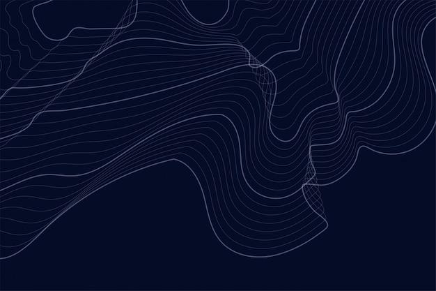 Fond sombre avec lignes de contour Vecteur gratuit