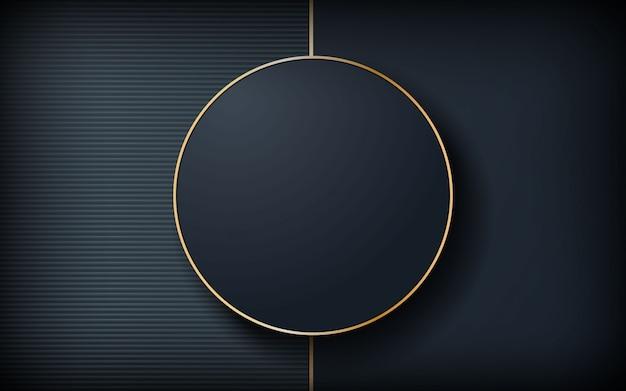 Fond sombre de luxe avec forme de cercle Vecteur Premium