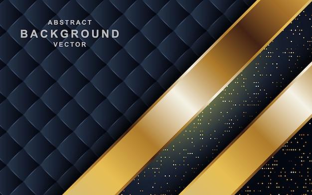 Fond Sombre Luxueux Avec Combinaison De Lignes Dorées. Vecteur Premium