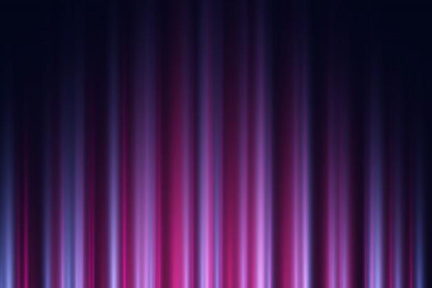 Fond Sombre Avec Des Néons Violets Et Violets. Vecteur Premium