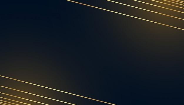 Fond Sombre Noir Avec Des Lignes Dorées Vecteur gratuit