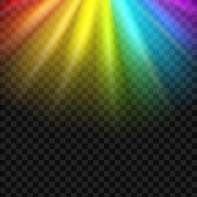 Fond spectre spectre arc-en-ciel. Vecteur Premium