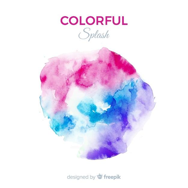 Fond de splash aquarelle coloré Vecteur gratuit